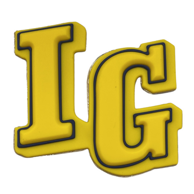 IG Raised Decals | Gold/ Navy/ Gold