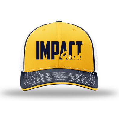 Tri-Color Impact Gold Block Sport Mesh Hat-PREORDER