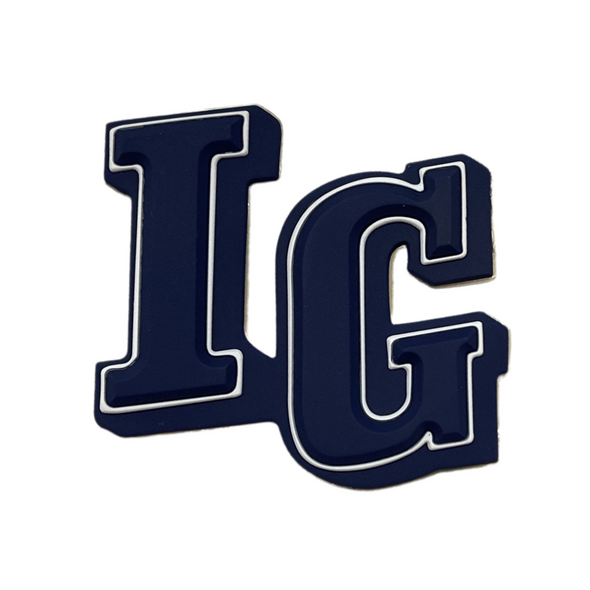IG Raised Decals | Navy/White/Navy