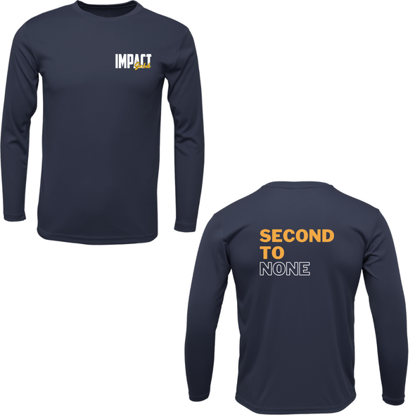 Second to NONE Longsleeve Navy Shirt