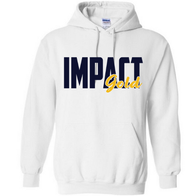 White Traditional Impact Gold BLOCK Hoodie