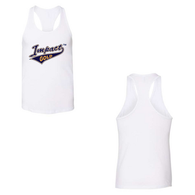 White Women's Racerback Tank- Tail Logo