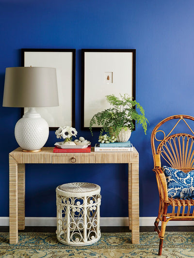DIY: Transform your entryway with this grasscloth masterpiece.