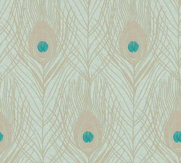 Peacock Feather Wallpaper - Absolute Chic