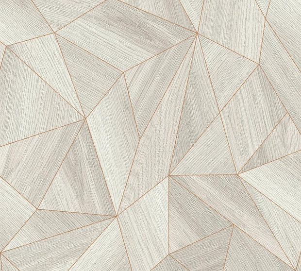 Geometric Wood Wallpaper - Industrial Elements