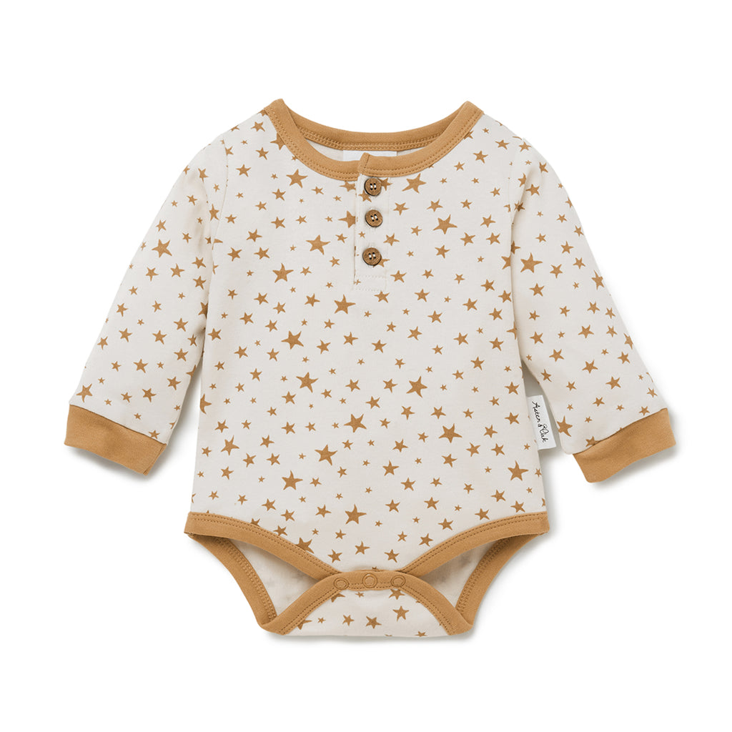 Taffy Star Henley Onesie
