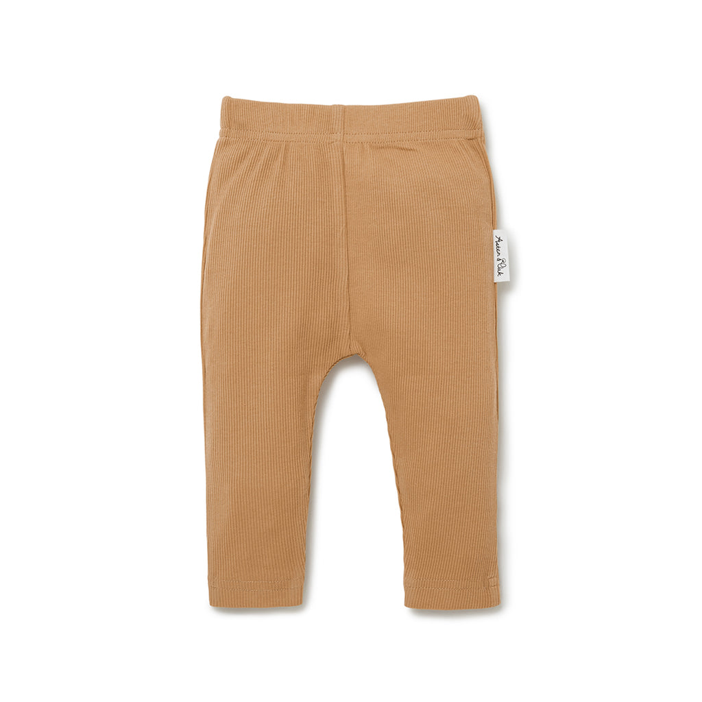 Aster & Oak Boho Baby Neutral Taffy Rib Legging