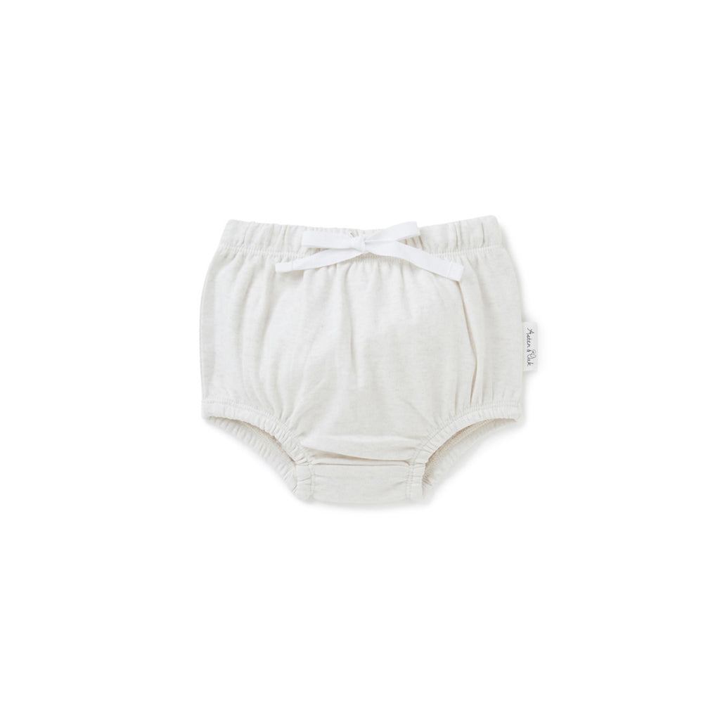 Aster & Oak Organic Cotton Ecru Marle Bloomers