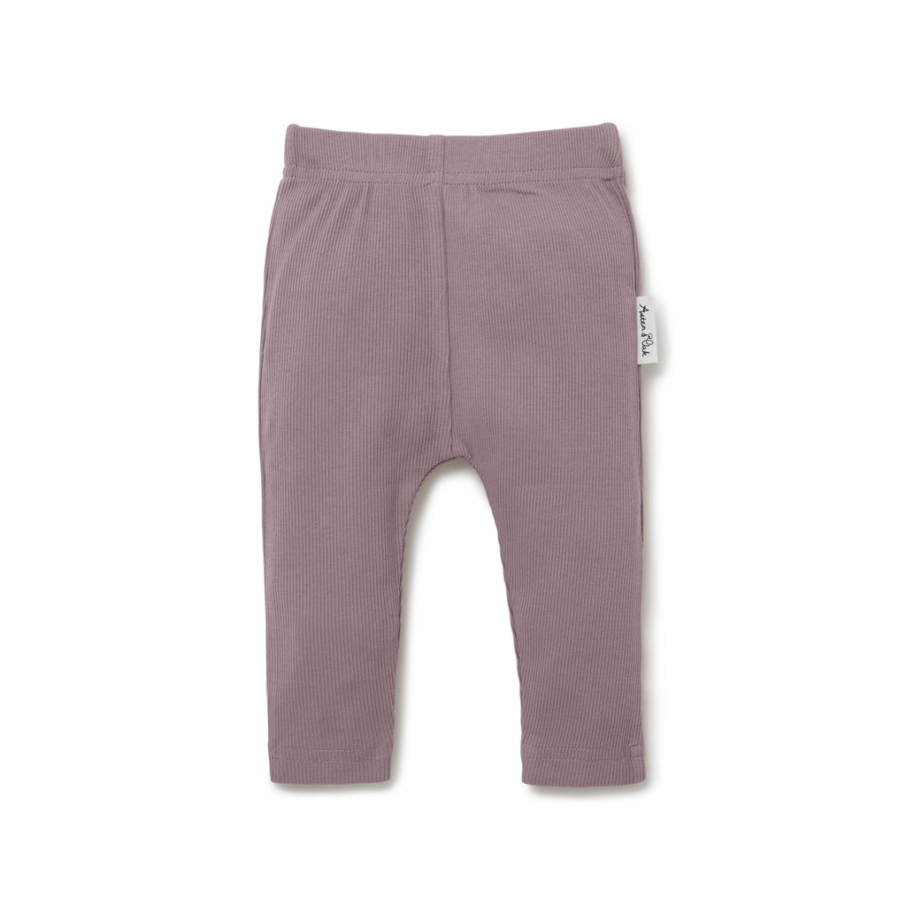 Aster & Oak Girls Cotton Elderberry Rib Legging