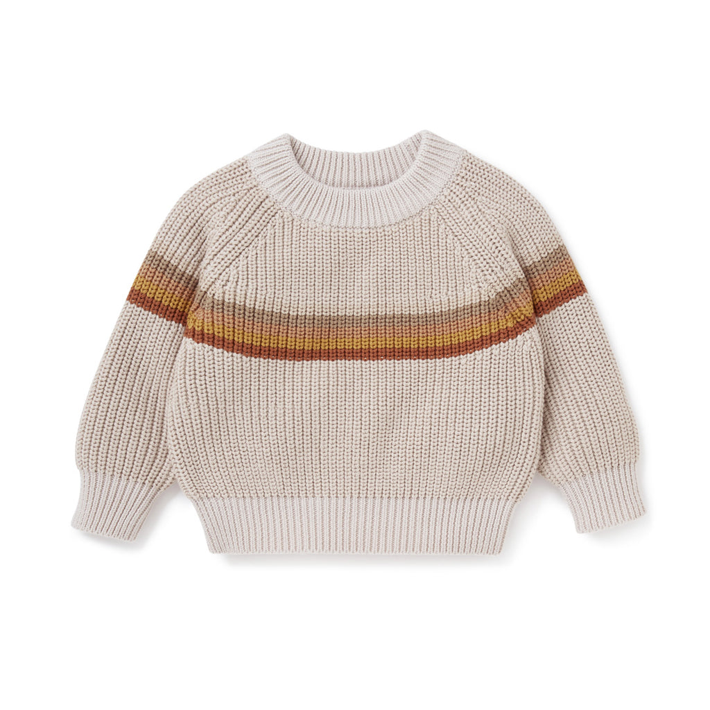 Aster & Oak Organic Chunky Knit Rainbow Jumper