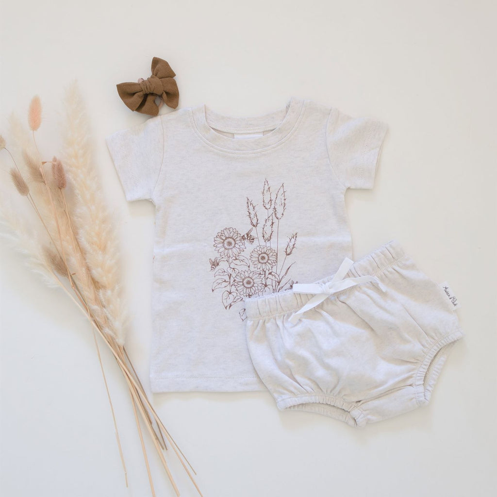 Natural Cotton Ecru Marle Bloomers