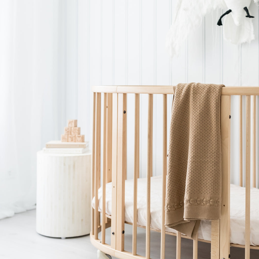 Aster & OAk Organic Cotton Clay Heirloom Blanket