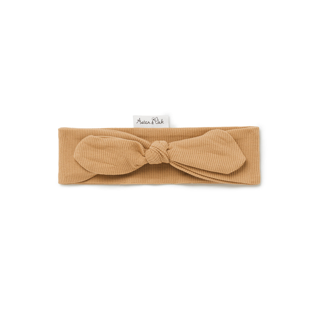 Aster & Oak Organic Cotton Girls Taffy Rib Headband