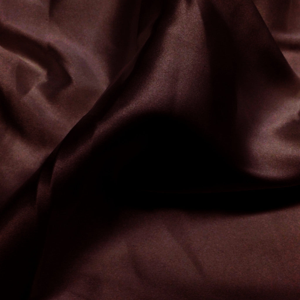 Charmeuse Satin Fabric 13  Brown - NY Fashion Center Fabrics
