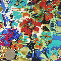 Cotton Floral Stretch Fabric CFS 13 - NY Fashion Center Fabrics