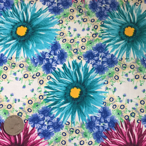 Cotton Floral Stretch Fabric CFS 27 - NY Fashion Center Fabrics