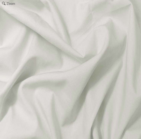 White Cotton Broadcloth Sale