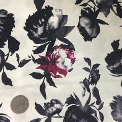Cotton Floral Stretch Fabric CFS 29 - NY Fashion Center Fabrics