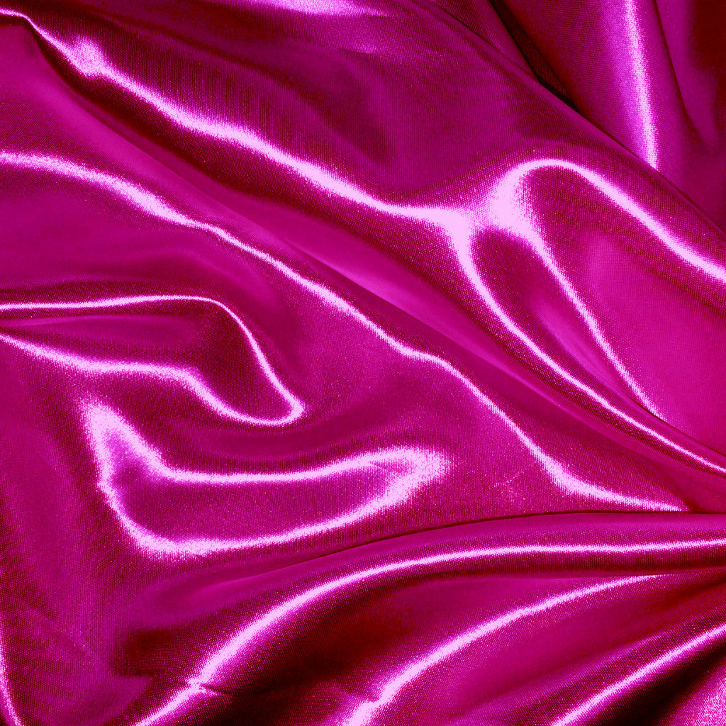 Luster Satin Fabric 37  Fuchsia - NY Fashion Center Fabrics