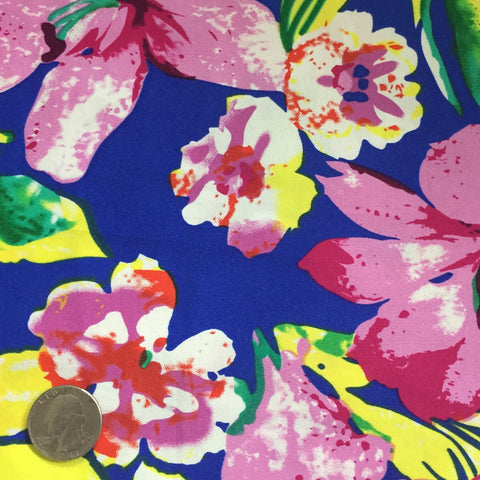 Cotton Floral Stretch Fabric CFS 3 - NY Fashion Center Fabrics