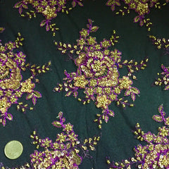 Allover Beaded Tulle Purple ABT 1315 - NY Fashion Center Fabrics