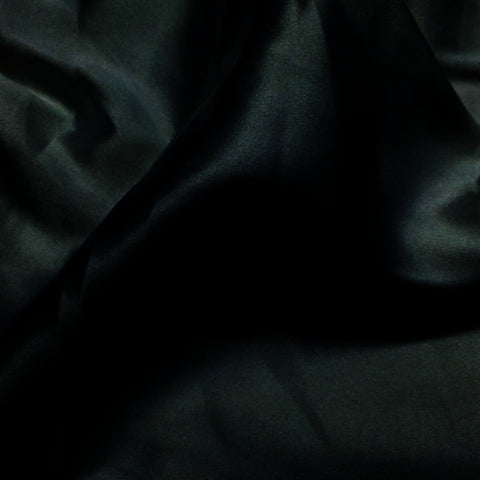 Charmeuse Satin Fabric 41  Black