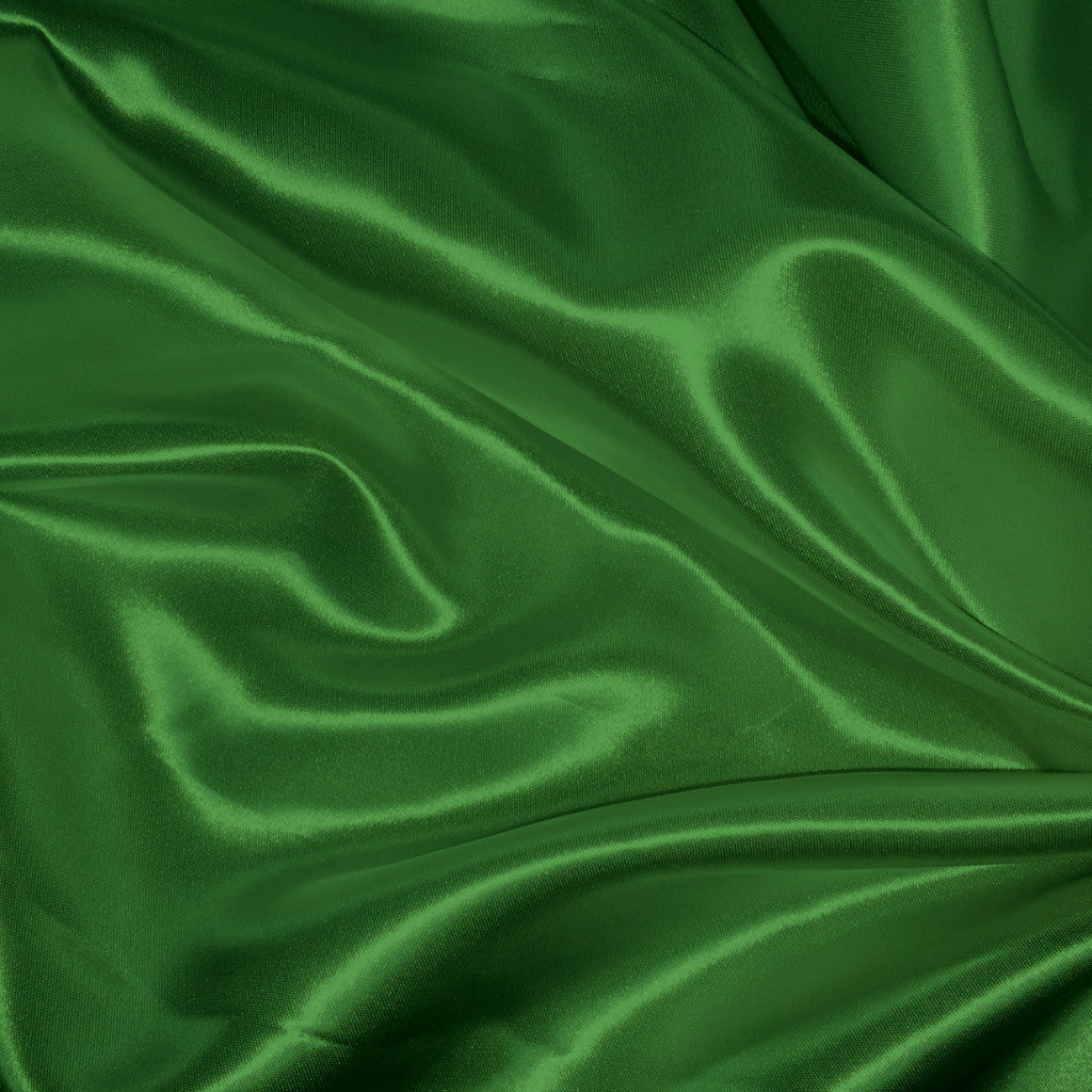 Luster Satin Fabric 24  Emerald Green - NY Fashion Center Fabrics