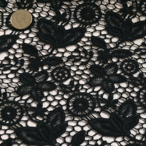 Floral Cotton Lace Black - NY Fashion Center Fabrics