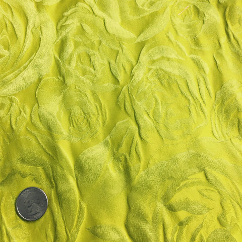Silk Rose Brocade Chartreuse