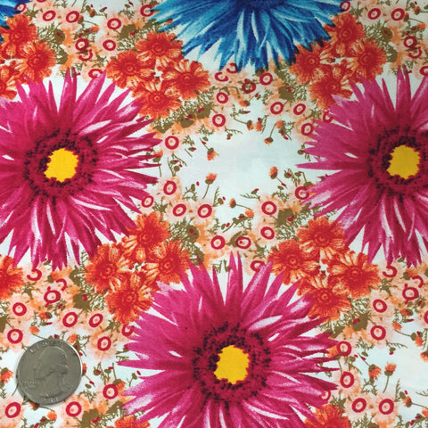 Cotton Floral Stretch Fabric CFS 34 - NY Fashion Center Fabrics