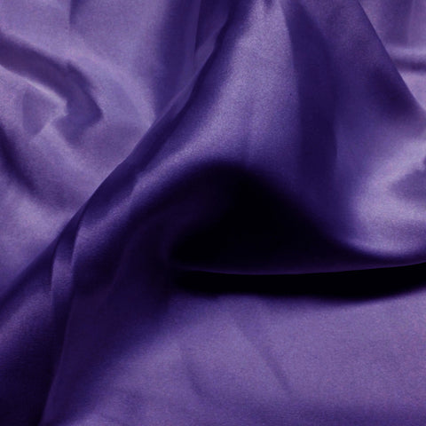 Charmeuse Satin Fabric 32  Purple - NY Fashion Center Fabrics