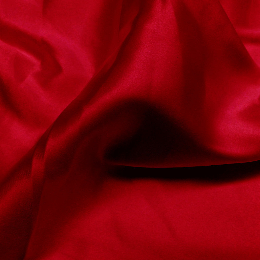 Charmeuse Satin Fabric 28  Red - NY Fashion Center Fabrics