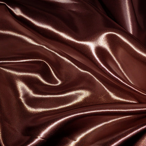 Luster Satin Fabric 21  Brown - NY Fashion Center Fabrics