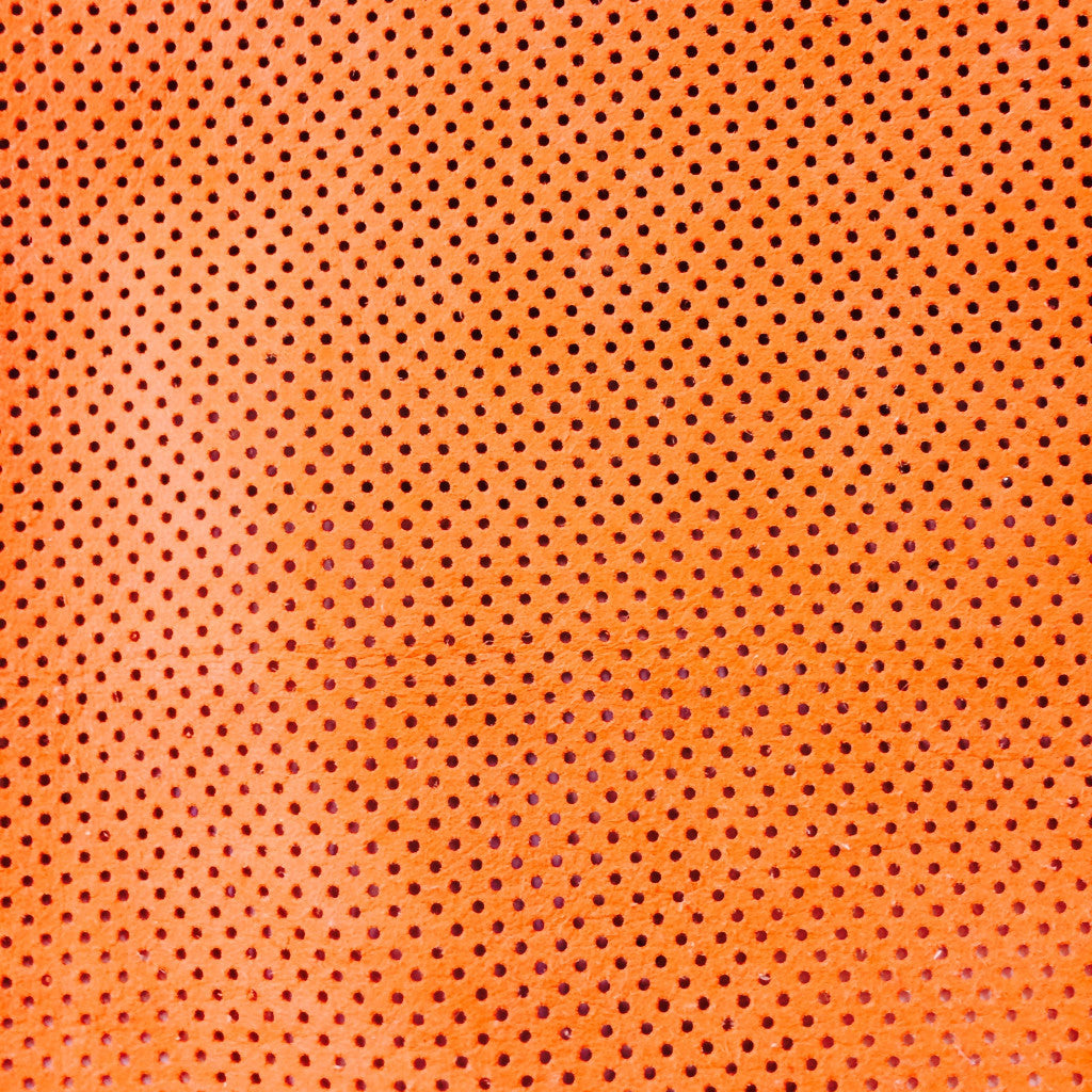 Perforated Lamb Leather Orange