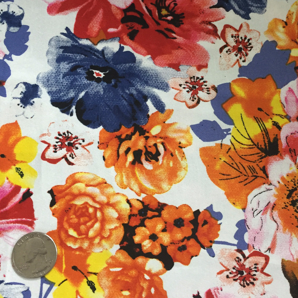 Cotton Floral Stretch Fabric CFS 36 - NY Fashion Center Fabrics