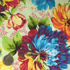 Cotton Floral Stretch Fabric CFS 17 - NY Fashion Center Fabrics