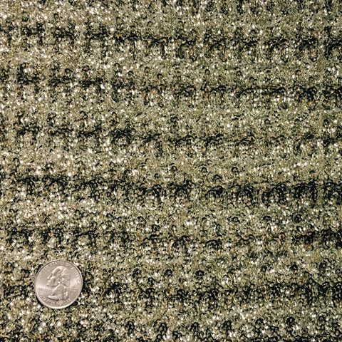 Allover Sequins Chiffon Gold Sequin ASC 2014 - NY Fashion Center Fabrics