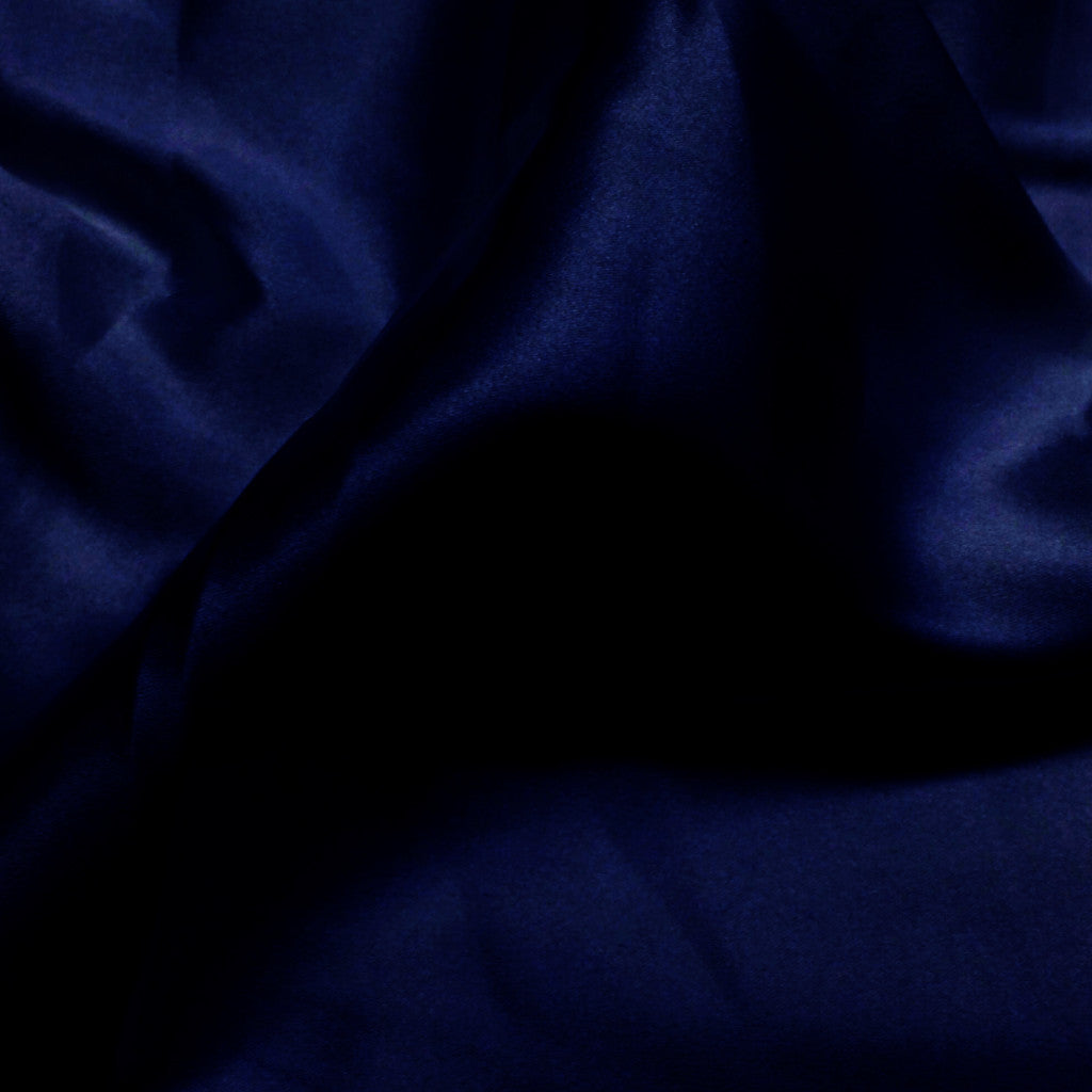 Charmeuse Satin Fabric 40  Navy - NY Fashion Center Fabrics