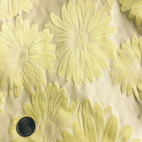 Silk Daisy Brocade Yellow