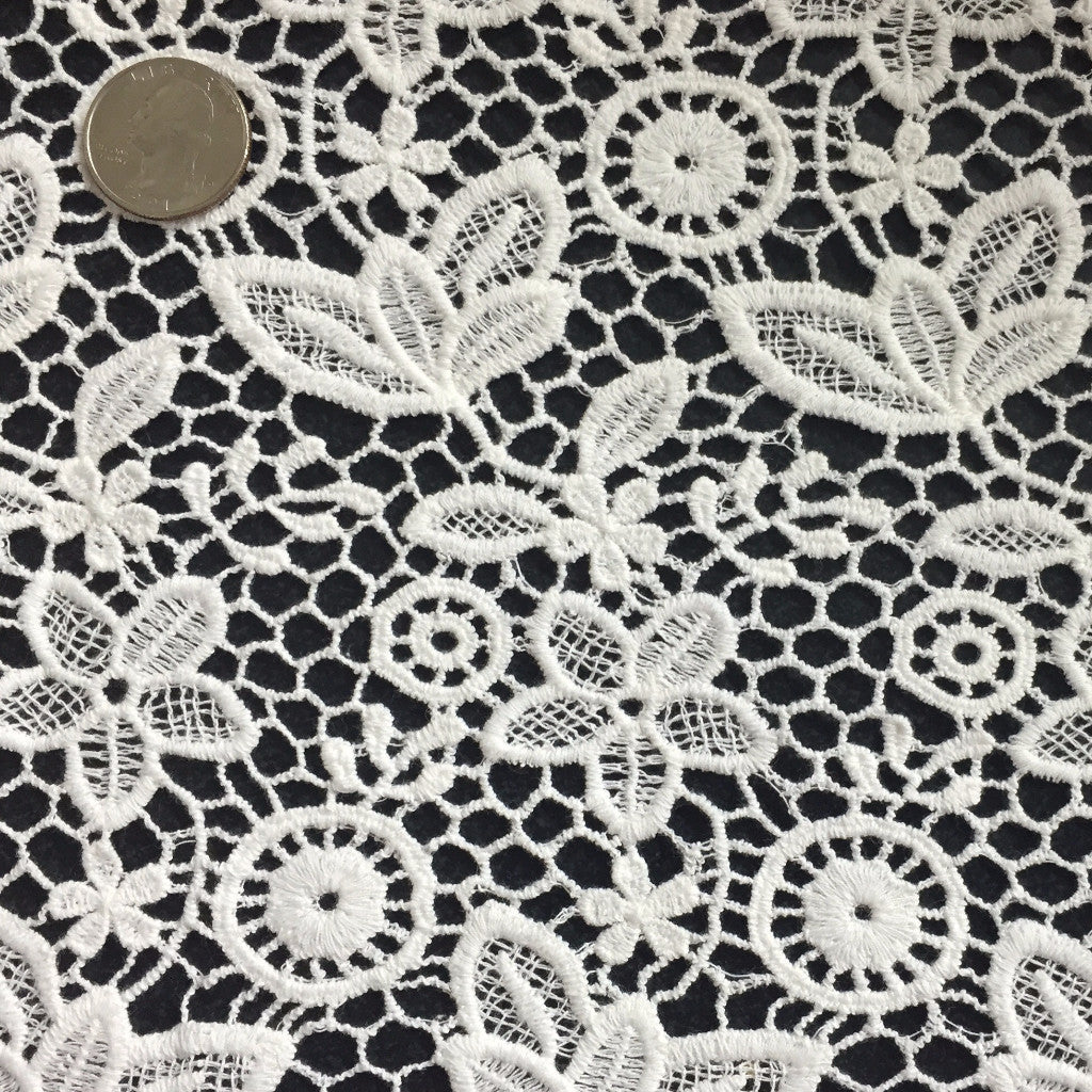 Floral Cotton Lace White