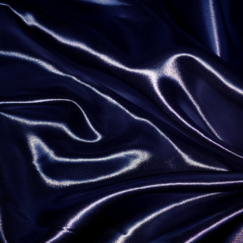 Luster Satin Fabric 30  Navy - NY Fashion Center Fabrics