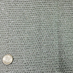 Allover Sequins Chiffon Silver Dot ASC  1914 - NY Fashion Center Fabrics