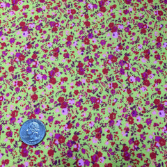 Mini Floral Print Spandex Yellow Mini Floral - NY Fashion Center Fabrics