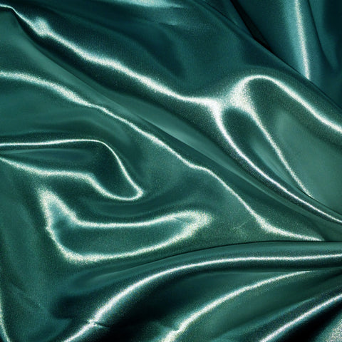 Luster Satin Fabric 28  Teal - NY Fashion Center Fabrics