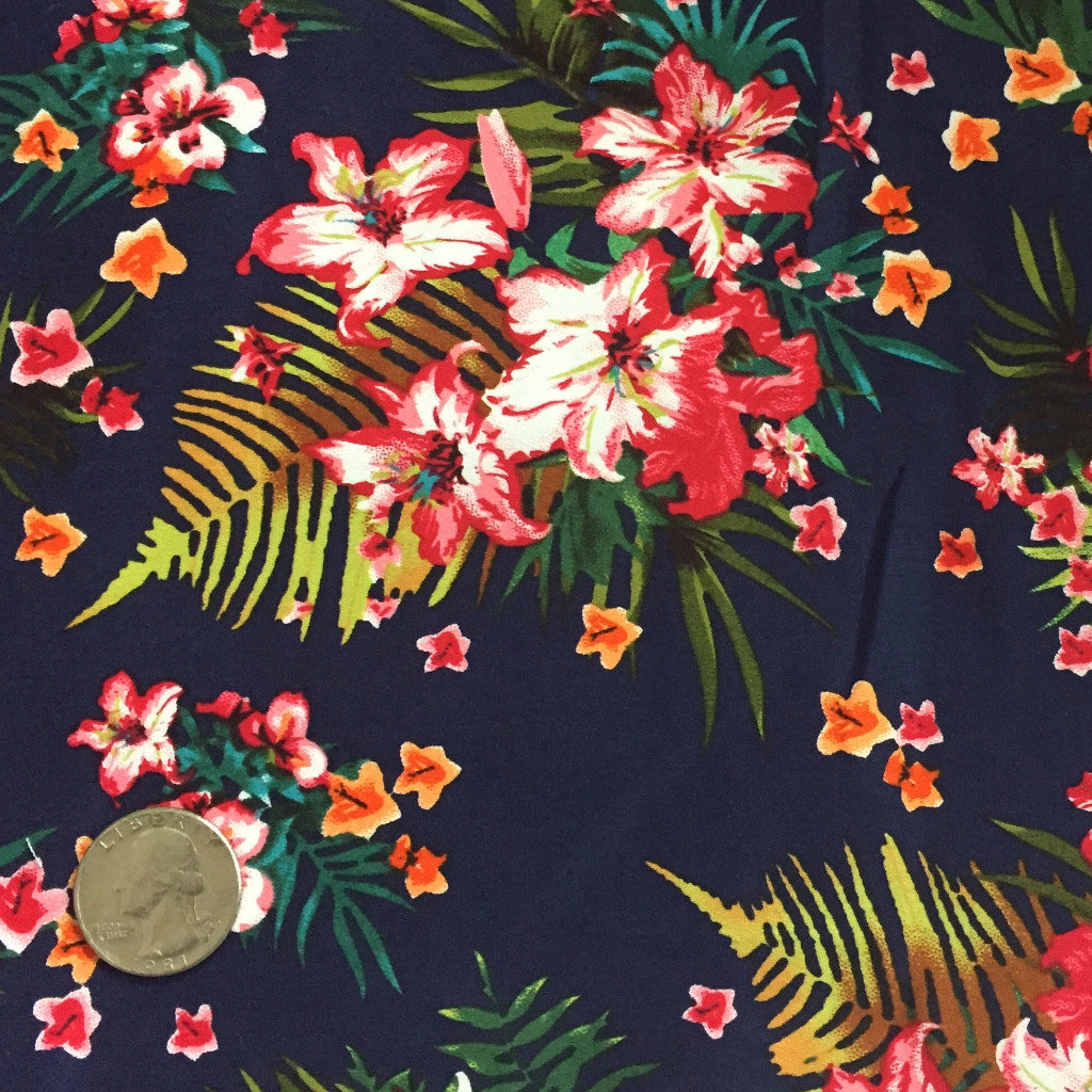 Cotton Floral Stretch Fabric CFS 28 - NY Fashion Center Fabrics