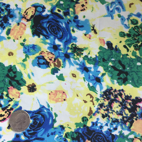 Cotton Floral Stretch Fabric CFS 19 - NY Fashion Center Fabrics