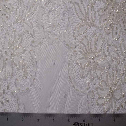 Pearl And Sequins Lace #7 82 16700PS 18 WhiteIvory