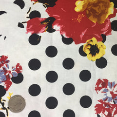 Cotton Floral Stretch Fabric CFS 26 - NY Fashion Center Fabrics