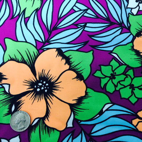 Hawaiian Floral Print Spandex Hawaiian Floral Print PS 4461 - NY Fashion Center Fabrics