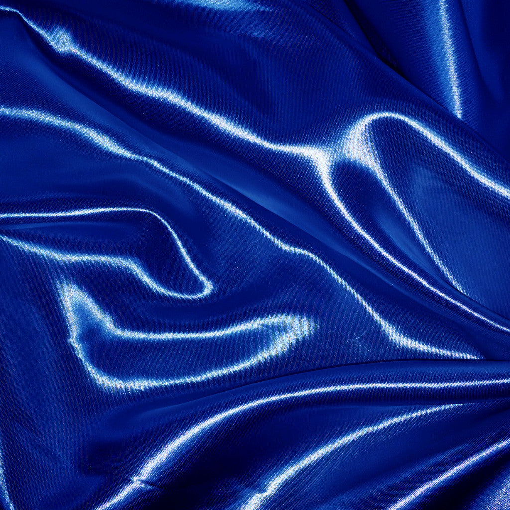 Luster Satin Fabric 29  Royal - NY Fashion Center Fabrics